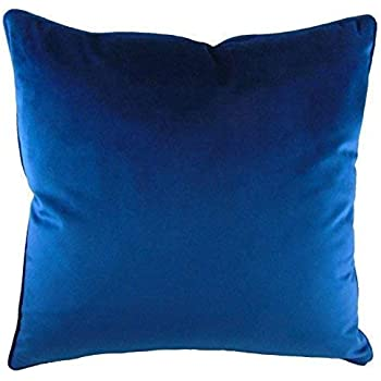 """2 X LUXURY EVANS LICHFIELD ROYAL VELVET GOLD PIPED SUPERSOFT CUSHION COVERS 17/"""""""