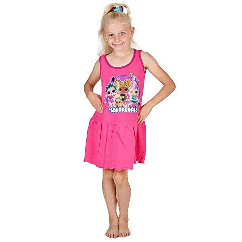 L.O.L. Surprise ! Vestido para Niñas Verano | Vestido Infantil Niña Rosa...
