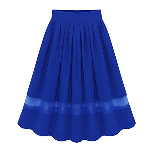 Minetom Donna Elegante Giuntura Svasato Gonna Partito Cocktail Skirt Midi