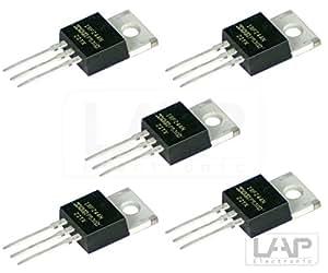 5x IRLZ44N Transistor N-LogL- MOSFET 55V 47A 110W TO220 AB IRLZ44
