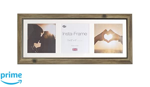 Inov8 Insta Rustic Ash 21x8 Inch Picture Frame for 3 Instagram ...