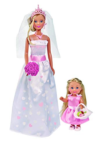 Simba- steffi love wedding day set bambole, colore, 105733334