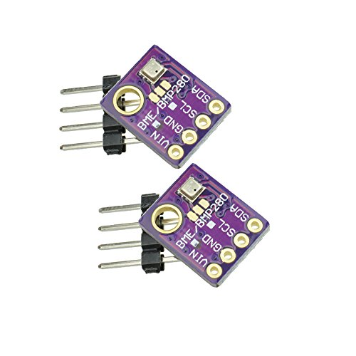 GY-bme280 High Precision Digital Sensor barometrischer Druck Temperatur Luftfeuchtigkeit und Luftdruck Modul Board für Arduino Raspberry Pi DIY I2 C SPI 5V (2PCS) -