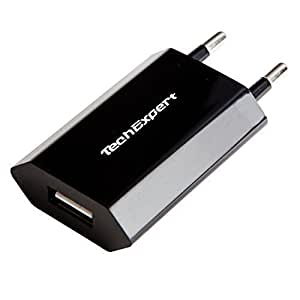 Chargeur secteur vers USB noir pour iphone 6, iPhone 5 , iPhone 4 & 4S, iPhone 3GS/3G, iPod Touch, Galaxy S, Galaxy Note