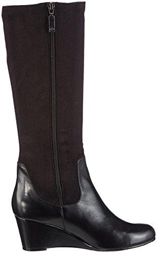 Gerry Weber - Jeanette 05, Stivali da infilare a gamba alta, senza rivestimento interno Donna Nero (Schwarz (schwarz 100))