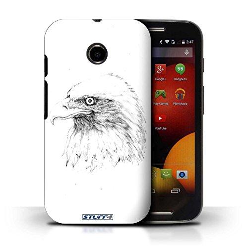 Kobalt® Imprimé Etui / Coque pour Motorola Moto E (2014) / Aigle / Oiseau conception / Série Dessin Croquis Aigle / Oiseau