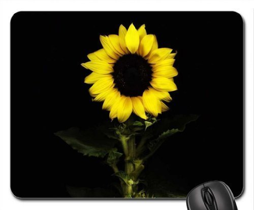 ow in The Dark Mouse Pad Computer Mouse Mat Premium-Textured Surface,Non-Slip Rubber Base,Laser Optical Mouse Compatible (Flowers Mouse Pad) ()