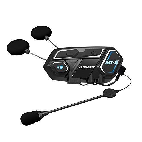 Bluerider Motorradhelm Bluetooth Headset,Motorrad Intercom Geräuschreduzierung, Bluetooth-Kommunikation System für Motorräder, Freisprechanlage bei Motorradfahren und Skifahren