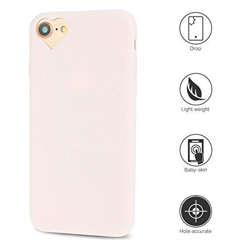 Coque iPhone 7 , Coque Apple 7 , Anfire Etui Souple Flexible en Premium TPU Apple iPhone 7 (4.7 pouces) Ultra Mince Gel Silicone Transparent Clair Housse de Protection Soft Crystal Case Cas Couverture Rose