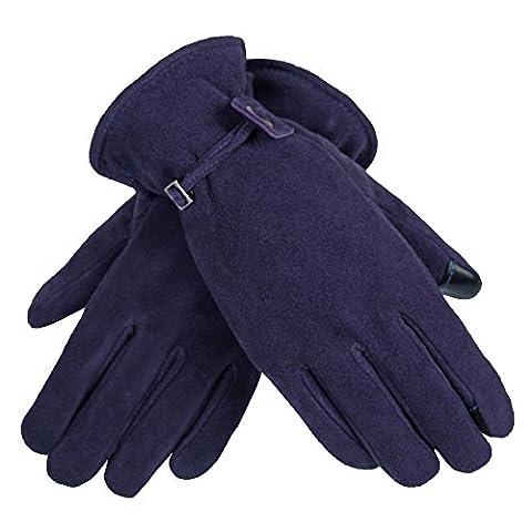 OZERO Ladies Driving Gloves, Waterproof Touchscreen in Winter Outdoor Bike Gloves(Purple, Small)