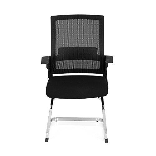 sucherstuhl INVENTOR V Netz-Stoff Schwarz Konferenzstuhl Freischwinger-Sessel Vierfußstuhl Schwinger-Stuhl Armlehnen (Schwarz-ess-stühle)