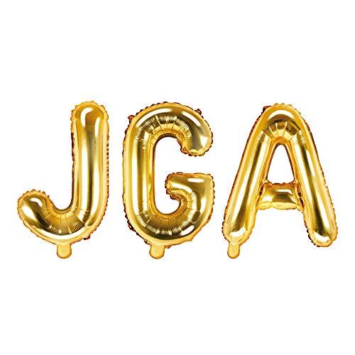 JGA Folien-Ballons/Buchstaben-Ballons/Luft-Ballon Schriftzug in Gold - Höhe 35cm - 1 Stück - Deko Junggesellinnen-Abschied/Hochzeits-Zubehör/Dekoration Luft-Ballons Hen-Party