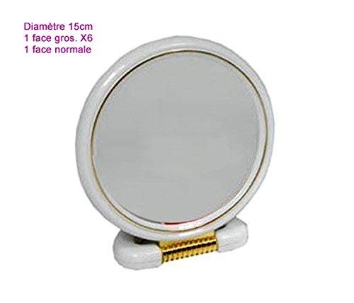 miroir grossissant x6 155mm avec support