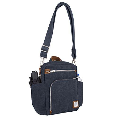 Travelon Anti-theft Heritage Tour Bag, Borsa a tracolla donna, Indigo (blu) - 33074 350 Indigo