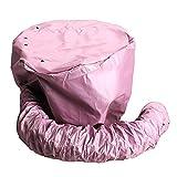 HIUGHJ 1 pz Nylon asciugacapelli Tappi per la Cura tinture per Capelli modellazione Riscaldamento Berretto di Asciugatura ad Aria Calda a casa pišŽ Sicuro di Elettrico, Rosa