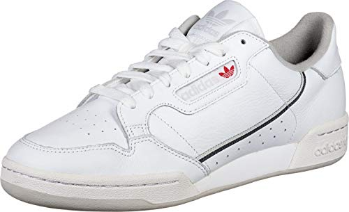 adidas Herren Continental 80 Gymnastikschuhe, Weiß FTWR White Five/Grey One F17, 40 EU -