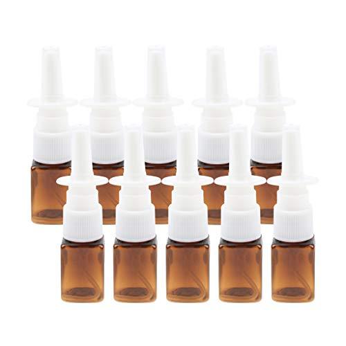 D DOLITY 10pcs 10Ml Plastik Leere Nasenpumpen Spray Flasche Nebel Zerstäuber Nase Körperpflege - Bernstein