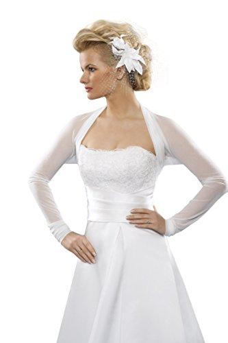 MGT-shop 60–da sposa stola Bolero giacca sposa Cape sposa Bolero M213 ivory/creme