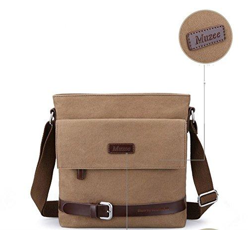 DELLT-Neue einfache Umhängetasche Tasche Mann Umhängetasche lässig Mann Tasche Mann Tasche Flut Armee Kaffee