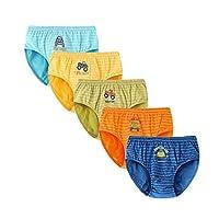 SYROSA Briefs for Little Boys Underwear Car Truck Soft Boy Short Boxer 11-12 Years