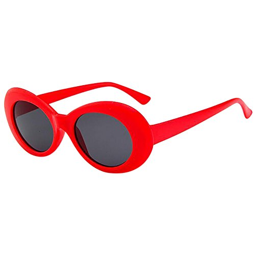 VRTUR 7 Paare Sonnenbrille Oval Retro für Damen Vintage Clout Goggles UV400 Schutz Party Sonnenbrille Rahmen Katze Auge Übergroße UV Schutz Brille (One size,J)