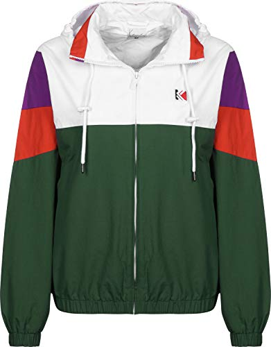 Karl Kani Block W Chaqueta Cortavientos Green White Purple Red 0a7bd45c7c5
