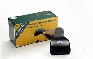 iClever ® Douchette sans fil scanner à code barre USB CCD Barcode Scanner lecteurs 80mm 200Scan/Sek en haute qualité w / LED rouge (noir )