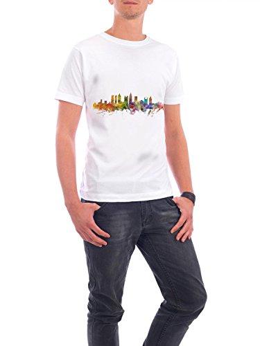 """Design T-Shirt Männer Continental Cotton """"Atlanta Georgia Watercolor"""" - stylisches Shirt Städte Reise Architektur von Michael Tompsett Weiß"""