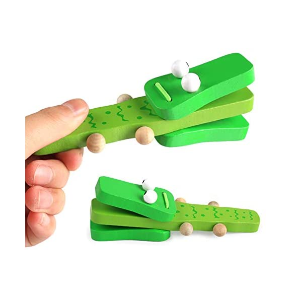NiceButy Wooden crocodile musical instrument early childhood education puzzle baby toy baby rattle castanets children toddler music toys best baby gift