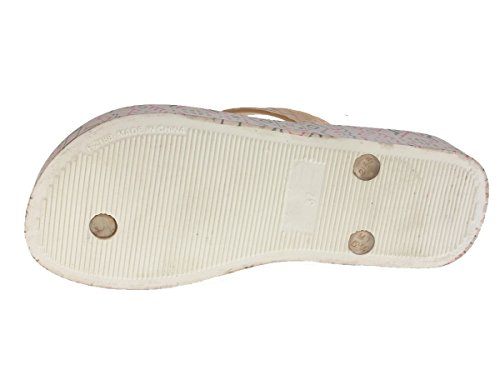 Beppi Chaussures Femme séparateurs d'été badelatschen Argent - Argent