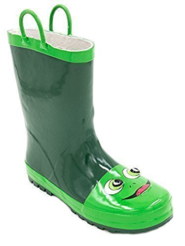 Kids 3D Frog Animal Wellies/Wellington Boots with Handles