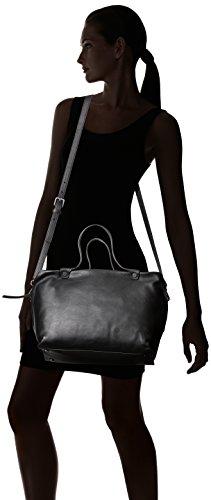 Ecco - Ecco Sculptured Handbag, Henkeltasche Donna Nero (Black)