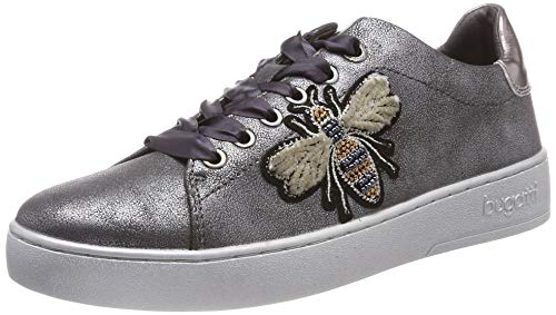 Bugatti Damen 432291085950 Sneaker, Grau (Dark Grey/Metallic 1190), 38 EU -