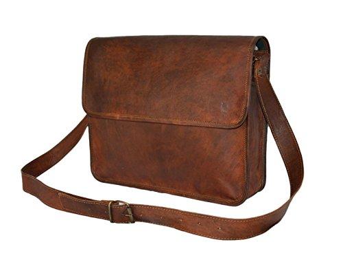Leder Flap Shoulder Bag (Mad Over Shopping, Handgefertigt aus echtem Leder Vintage Messenger Shoulder Crossbody Flap Bag)