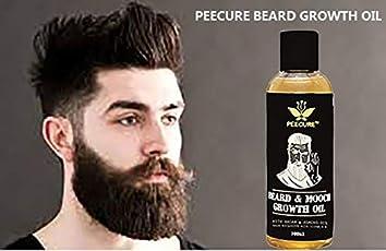 Peecure Mooch & Beard Growth Oil For Men 100ml