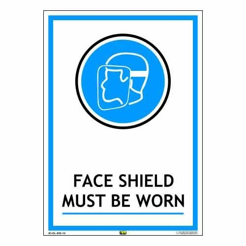 Mr. Safe FACE SHIELD MUST BE WORN Sign Sunboard A3  available at amazon for Rs.425
