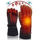 Svpro Männer Frauen Winter Wiederaufladbare Batterie Beheizte Handschuhe Elektrische Hitze Handschuhe Kit, Sport im Freien Thermische Isolierhandschuhe, Touchscreen Klettern Wandern Skifahren Jagd Han