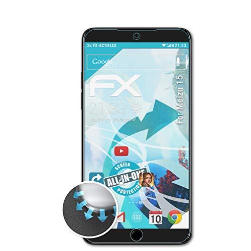 atFolix Schutzfolie passend für Meizu 15 Folie, ultraklare & Flexible FX Bildschirmschutzfolie (3X)