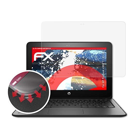 atFolix Schutzfolie passend für HP ProBook x360 11 G1 EE Folie, entspiegelnde & Flexible FX Bildschirmschutzfolie (2X)