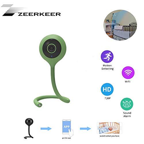 ZEERKEER HD Cámara de Seguridad Niñera Monitor de Bebé Cámara WiFi Inalámbrica 2 Vías...