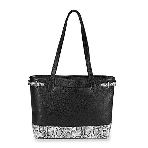Levenger AL15205 Bold Leather Blair Business Tote Bag Snake