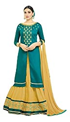 Clickedia Womens Pure Cotton With, Embroidery,Semi stiched fancy Lehenga Suit
