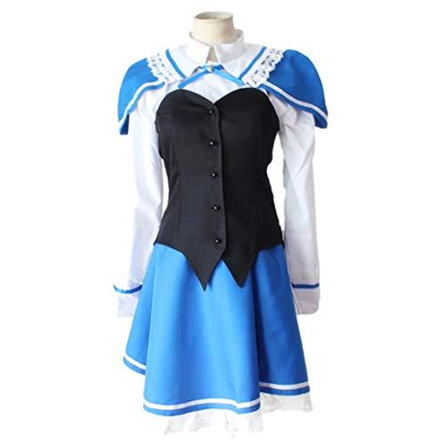 Kostüm Erde Bilder - YKJ Anime Cosplay Kostüm Erde Blau Rock Schwarz Weiß Langarm Top Erwachsene Mädchen Maskerade Uniform Bühnenkostüm Komplettset,Full Set-L