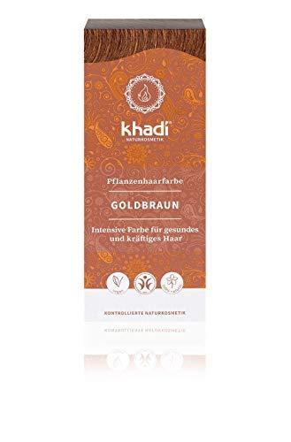KHADI   Polvo Colorante Cabello Marrón dorado   100%