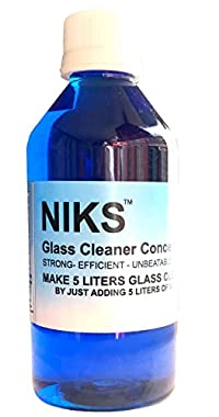 Niks Glass Cleaner Concentrate 250ml makes 5 Ltrs
