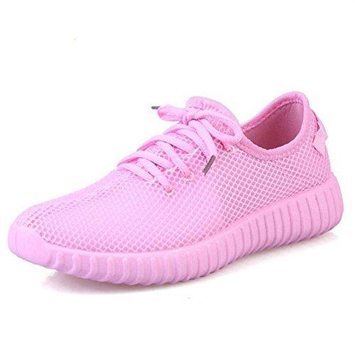 Scarpe a rete singola da donna / donne primavera e estate scarpa da ginnastica leggera e leggera Pink