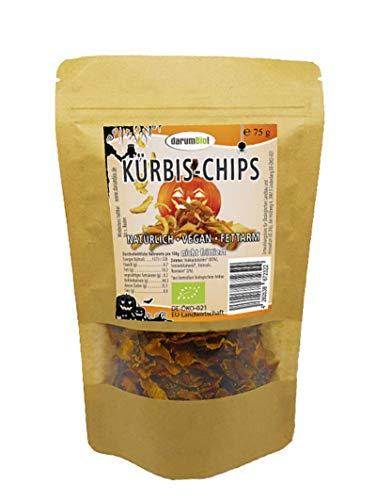 Original darumBio! Halloween-Party Kürbis-Chips aus Deutschland, natürlich, vegan, fettarm, unfrittiert