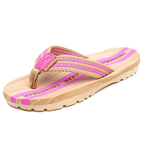 Eagsouni® Mens Womens Striped Non-slip Flip Flops Sandals Summer Beach Shower Casual Slippers Walking Shoes Size 3-8.32