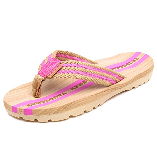Eagsouni® Herren Damen Sandalen Slipper Zehentrenner Flip Flops Pantoffeln Pink