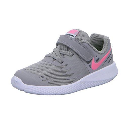 Nike Star Runner (TDV) 907256 002 Mädchen Klettverschluss/Slipper Halbschuh (Nike-star)